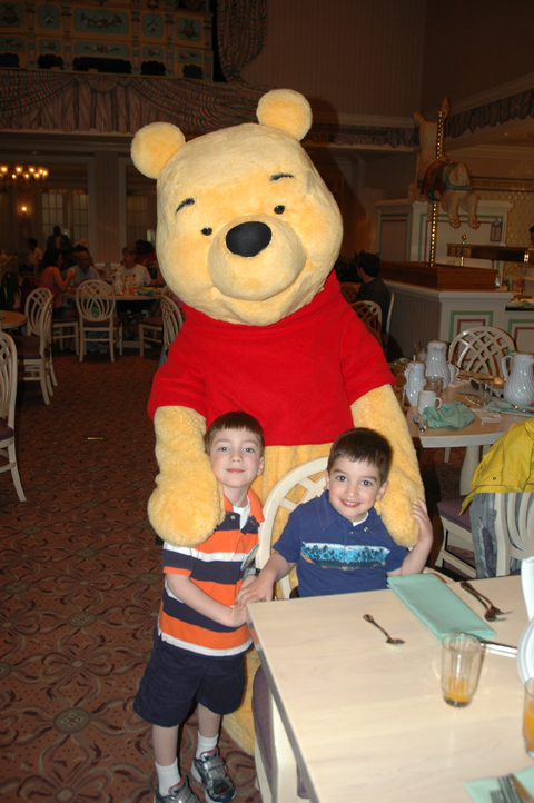 The Boys with Pooh Bear