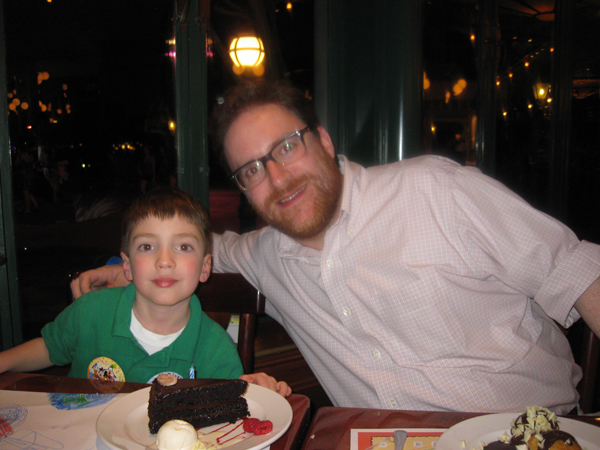 Nicholas and I with cake