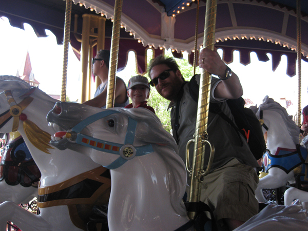 Nicholas and I Rocking the Carousel